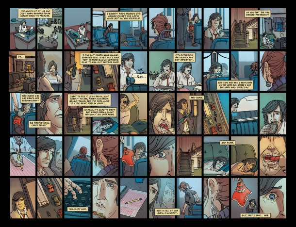 pages from The Life After by Joshua Hale Fialkov and Gabo (Oni Press)