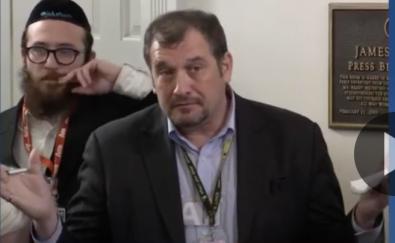 Reporter Brian Karem looking quizzical